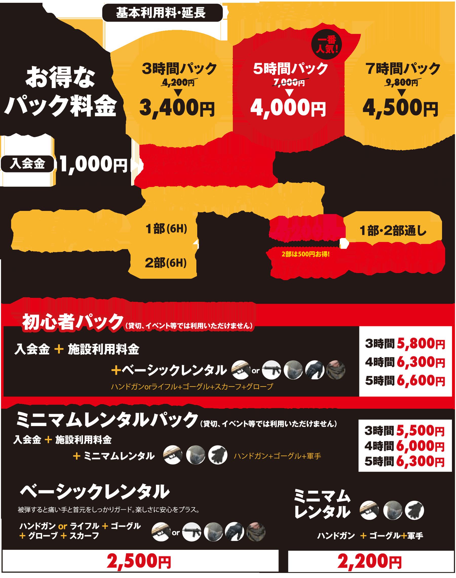 埼玉でサバイバルゲームをするならBrave Point 埼玉上福岡店 | 料金案内